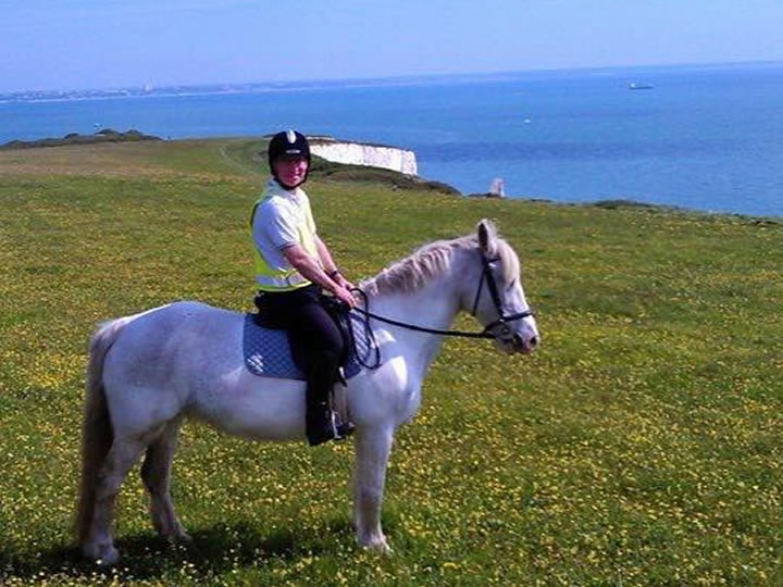 Riding to Old Harry Rocks with Studland Stables in Dorset